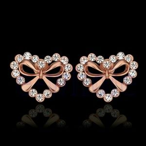 Jewelry - Rose gold plated heart stud earrings